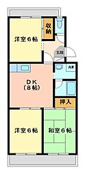神奈川県川崎市宮前区小台1丁目の賃貸マンションの間取り