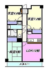 ベルコースト茅ヶ崎[3階]の間取り