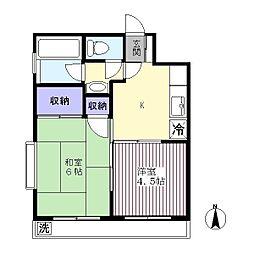 杉本マンション[402号室]の間取り
