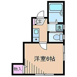 神奈川県横浜市港北区新吉田東8丁目の賃貸アパートの間取り
