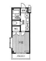 神奈川県相模原市南区相模大野5丁目の賃貸マンションの間取り