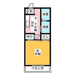 コーポ藤 A[2階]の間取り