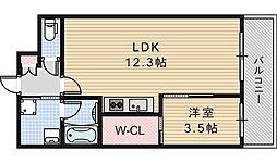 グレイス阿倍野松崎[3階]の間取り