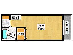 パラッツオ西岡本[410号室]の間取り