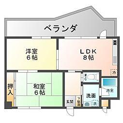 メゾンドール桜坂[1階]の間取り