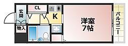 兵庫県神戸市灘区浜田町4丁目の賃貸マンションの間取り