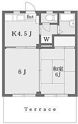 ハイツアゼリア[2階]の間取り