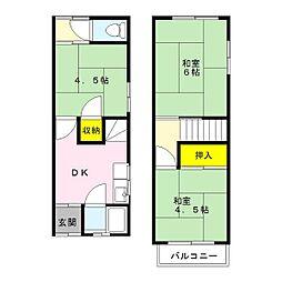 [一戸建] 大阪府東大阪市玉串町西1丁目 の賃貸【/】の間取り