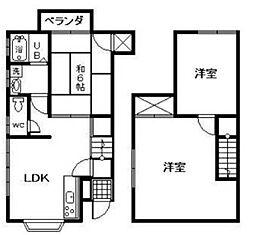 [一戸建] 愛媛県松山市来住町 の賃貸【/】の間取り