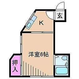 大倉山ハイム[1階]の間取り