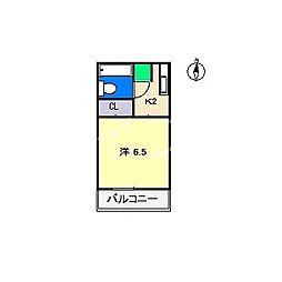 大西コーポII[1階]の間取り