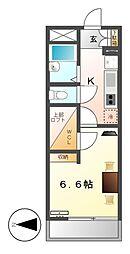レオパレスアンコールヴィレッジ[4階]の間取り