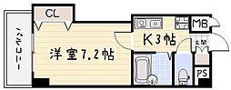 アクス敷島21[4階]の間取り