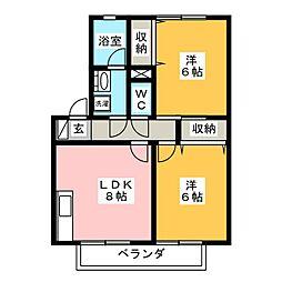 ラーク[2階]の間取り