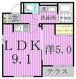 Maison de Mum〜メゾンドマム〜[1階]の間取り