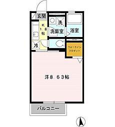 東京都練馬区谷原2丁目の賃貸アパートの間取り