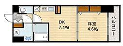 スプランディッド新大阪キャトル[7階]の間取り