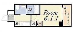 エステムコート難波WEST-SIDEIIIドームシティ[2階]の間取り