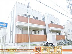 愛知県名古屋市天白区野並2丁目の賃貸アパートの外観