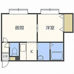 FOREST栄通B[3階]の間取り