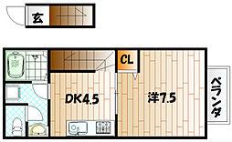 デザインコート日明[2階]の間取り
