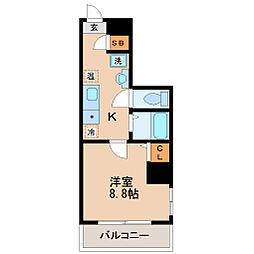 メゾンフルール榴岡[2階]の間取り