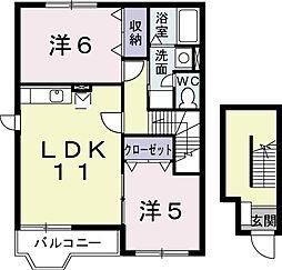 フレ−ズ メゾン A[2階]の間取り