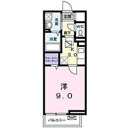 Osaka Metro中央線 深江橋駅 徒歩5分の賃貸アパート 2階1Kの間取り