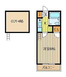 メ−プルMH6[2階]の間取り