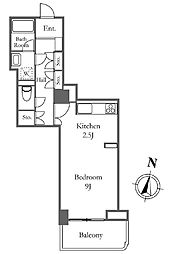 リバーシティ21イーストタワーズ 8棟 14階ワンルームの間取り