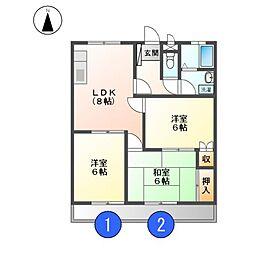 サンシャイン丸新[3階]の間取り