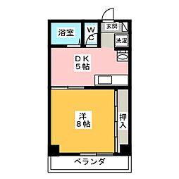 ラフォーレ岐阜[5階]の間取り