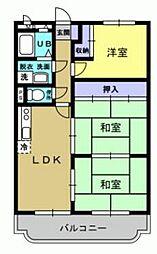 ユーミー古三津[2階]の間取り
