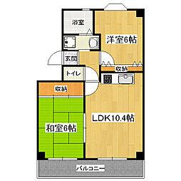 K-FLAT MORE(旧:サニーハイツ)[2階]の間取り