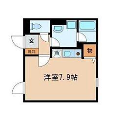 東京都品川区東大井3丁目の賃貸マンションの間取り