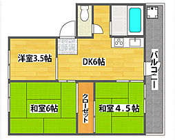 南港厚生年金共同住宅3号棟[5階]の間取り