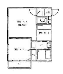 仮)北14条東1丁目MS[401号室]の間取り