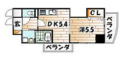 福岡県北九州市戸畑区新池3の賃貸マンションの間取り