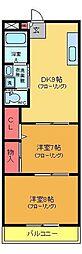亀有コーポ[204号室]の間取り