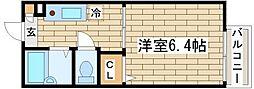 兵庫県神戸市須磨区多井畑字東山ノ上の賃貸アパートの間取り