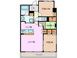 ローレルタワーシュロア四日市 903号室[9階]の間取り