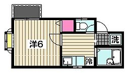 東京都大田区萩中1丁目の賃貸アパートの間取り