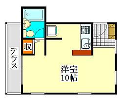 ホールハウス[2階]の間取り