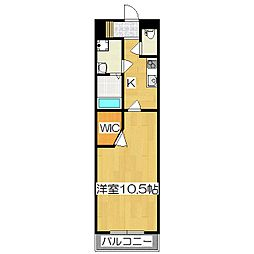 uni E'terna京都壬生[4階]の間取り