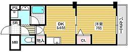 モルゲン北花田[2階]の間取り