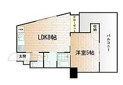 片野タカヤコーポレーション[6階]の間取り