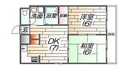 リード21[8階]の間取り
