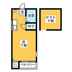 エレガンテ県庁東[2階]の間取り