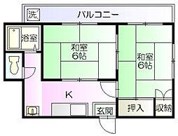 山野ハイツ[301号室]の間取り