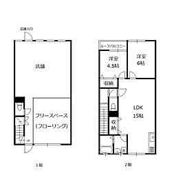 住居付き店舗(2階のみ)[2F号室]の間取り